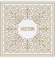 floral frame with copy space for text in trendy vector image vector image