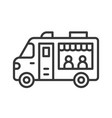 food truck line style editable stroke icon vector image vector image