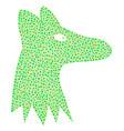 fox head mosaic of small circles vector image vector image