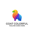 goat bull colorful design concept template vector image
