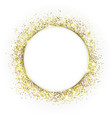 gold round frame and glitter glowing particles vector image