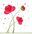 Greeting Card Bouquet of Flowers in a heart-shaped vector image vector image