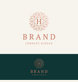 h brand logo vector image vector image