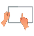 Hand holding a touchpad ps vector image