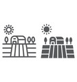 harvest field line and glyph icon farming vector image vector image