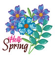 hello spring decorative design vector image