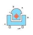 home furniture icon design vector image vector image