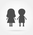 icon boy and girl vector image vector image
