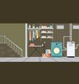 interior equipment of a basement vector image