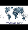 international map of the world vector image vector image