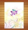 joy card Watercolor floral background vector image vector image