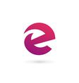 Letter E logo icon design template elements vector image vector image