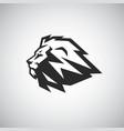 lion head icon logo template vector image vector image