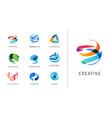 logo set creative technology biotechnology vector image