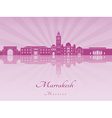Marrakesh skyline in purple radiant orchid vector image vector image