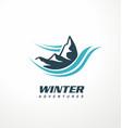 mountain logo design idea vector image vector image