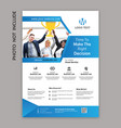 multipurpose flyer template vector image vector image