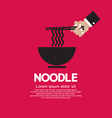 Noodles EPS10 vector image vector image