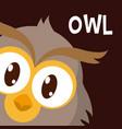 owl cute animal cartoon vector image