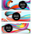 paint brush strokes horizontal banners vector image