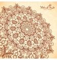 perspective mehndi mandala in henna tattoo vector image vector image
