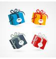 Present Box Gift Box Set vector image vector image