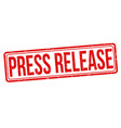 press release grunge rubber stamp vector image vector image