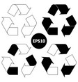 recycle symbol conservation black icon vector image
