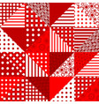red patchwork geometrical pattern vector image vector image