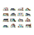 residential house village building exterior vector image