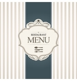 Restaurant menu cover design vector image