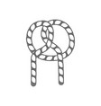 rope knot outline isolated icon vector image