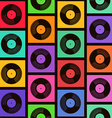 Seamless pattern of vinyl records vector image vector image