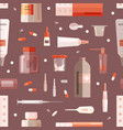 seamless pattern with medicaments mixtures in vector image vector image