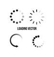 set circular icon or symbol loading vector image