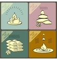 set icons and words spa massage vector image vector image