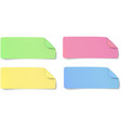 Set of color rectangular oblong paper stickers vector image vector image