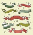 set of colored holiday ribbonsinscription 2019 vector image