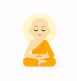 sitting buddha with meditation pose vector image vector image