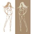 sketch of girl vector image vector image