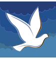 Soaring dove in the blue sky logo vector image vector image