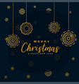 stylish black and golden merry christmas vector image