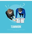 Teamwork banner Top view group of people vector image