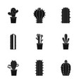 types of cactus icon set simple style vector image vector image