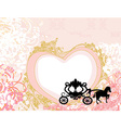 Vintage carriage design - floral background vector image
