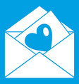 vintage envelopes and heart icon white vector image vector image