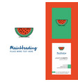 water melon creative logo and business card vector image
