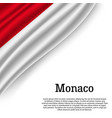 waving flag of monaco vector image