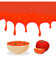 whole ripe vegetable red tomato vector image