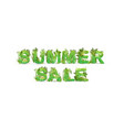 word summer sale with vector image vector image